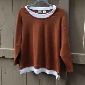 Chico's Two Color Ladies Top Sweater